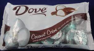 Dove Coconut Creme Silky Smooth Milk Chocolate Eggs, Flavor Review - Flavor  Scientist